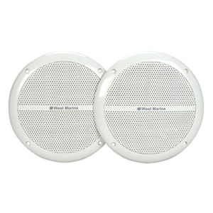 "4"" Round Flush-Mount Speakers, White, 5.2"" Mounting Dia., 3.6"" Dia. x 2.3""D Cutout Size"