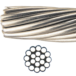 Alps Wire Rope 1 x 19 Type 316 Stainless-Steel Wire, 9/32 Wire Dia., 9605lb. Breaking Strength Sale $5.14 SKU: 3273745 ID# 120-1354Z UPC# 850216003179 :