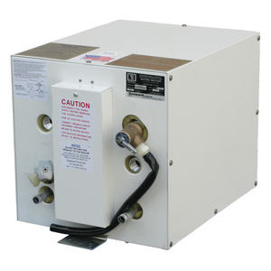 "120V AC Water Heater with ""Front-Mounted"" Heat Exchanger and Epoxy-Coated Aluminum Case"