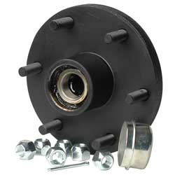 "High Capacity Hub Kit, 6-Bolt,  5 1/2"" Bolt Circle Dia., 1 3/8""-1 1/16"" Tapered Spindle Dia., 10"" Brake size., 15""-16"" Wheel size, 1,750lb. capacity"