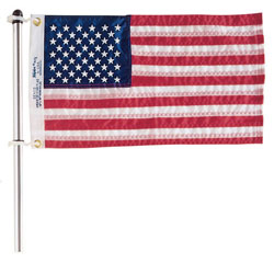 Flag Pole with Charlevoix Clips