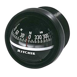 Explorer Dash-Mount Compass, Black