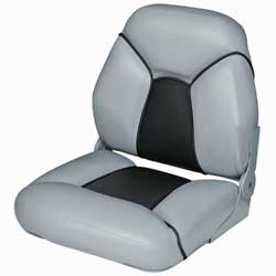 Premium Mid-Back Folding Bucket Seat, Gray/Charcoal