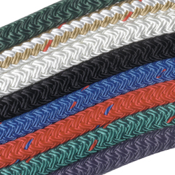 New England Ropes 1'' Double Braid Nylon Line, 30,000lb. Breaking Strength, Black