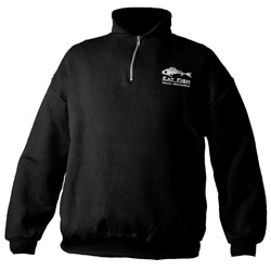 Men's Eat Fish 1/4 Zip Sweatshirt