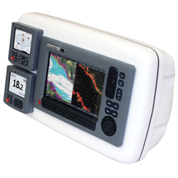 "SystemPod Precut for Raymarine C90W and E90W and 2 Inst. (3.6"" hole) for 9.5""W Guard"