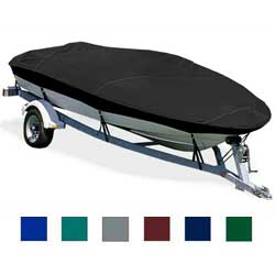 "Basic Fish Boat Cover, OB, Black, Hot Shot, 14'5""-15'4"", 65"" Beam"