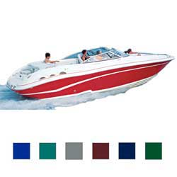 "European V-Hull Bow Rider Cover, I/O, Navy Blue, Hot Shot, 25'5""-26'4"", 102"" Beam"