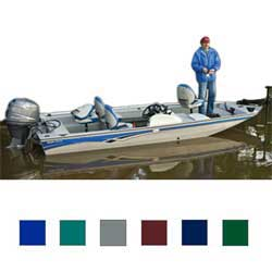 "Tourny Tri-Hull Fishing Boat Cover, OB, Teal, Hot Shot, 16'5""-17'4"", 85"" Beam"