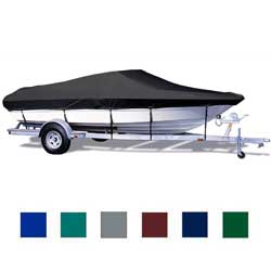 "V-Hull Runabout Cover, I/O, Gray, Poly Cotton, 17'5""-18'4"", 96"" Beam"