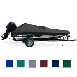 "V-Hull Fish and Ski Cover, I/O, Black, Hot Shot, 17'5""-18'4"", 96"" Beam"