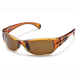 Star Polarized Sunglasses, Rootbeer Frames with Brown Lenses