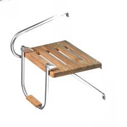 Whitecap Teak Swim Platform with Ladder, Outboard
