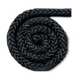 New England Ropes Prespliced Mega Braid Dock Line, 3/4 x 50', 12,050lb. Breaking Strength, Black