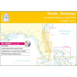 Reg. 8.1, Florida, Northeast, Fernandia Beach to Lake Worth Chartbook with Digital CD and App