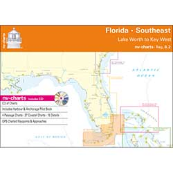 Reg. 8.2, Florida, Southeast, Lake Worth to Key West Chartbook with Digital CD and App
