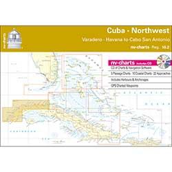 Reg.10.2, Cuba Northwest, Varadero, Havana to Cabo San Antonio Chartbook with Digital CD and App
