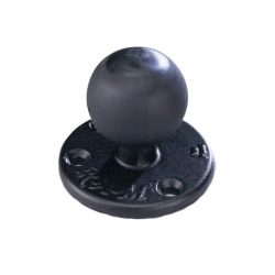Ram Mounts Base with Ball for Alternative Mounting Location, 2-1/2 dia. base; 1 dia. ball