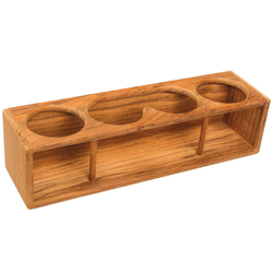 Teak Drinks/Binoculars Rack