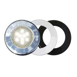 Three-Bezel Interior LED Flood Light, White