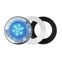 Three-Bezel Interior LED Flood Light, Blue