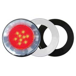 Three-Bezel Interior LED Flood Light, Red