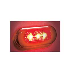 Oval Red LED Utility Light