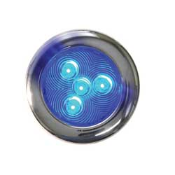 "Stainless Steel Surface-Mount 3"" LED Light, Blue"