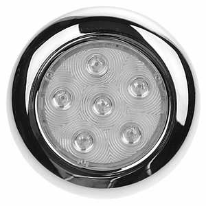 "Stainless Steel Surface-Mount 4"" LED Light, Blue"