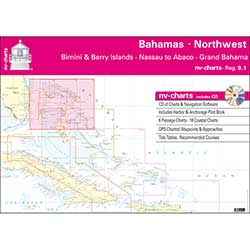 Bahamas North West, Bimini & Berry Islands, Nassau to Abaco, Grand Bahama Chart Book with CD ROM