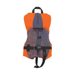 Kids' Neoprene Life Vest, Infant Neo PFD, Orange