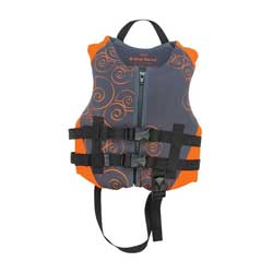 Kids' Neoprene Life Jacket, Orange