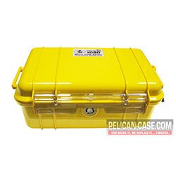 1050 Micro Case, Clear With Yellow Liner