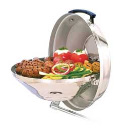 Marine Kettle Charcoal Grill with Hinged Lid, 15""