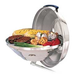 Marine Kettle Charcoal Grill with Hinged Lid, 17""