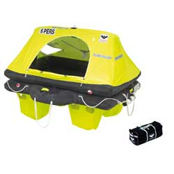 RescYou™ ISO 9650-1/ISAF Life Raft, 6 Person, with Valise