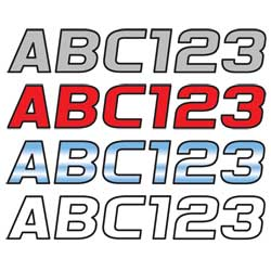 Series 700 Block Style Contrasting Outline Lettering Kit, 3""