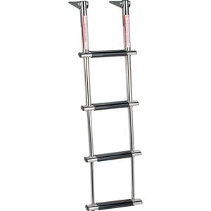 Stainless Steel 4-Step Wide-Step Telescoping Dive Ladder