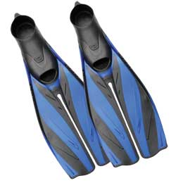 FF-19 X-Pert Evolution Full Foot Dive Fin, Blue/Black