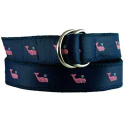 Women's Cotton Web Belt with Marlin Motif