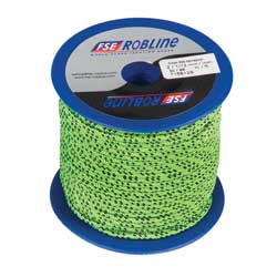 Polyester Braid Line Mini-Spool, 3mm, Green/Black Line, 49'