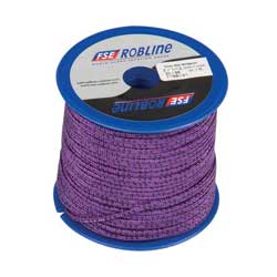 Polyester Braid Line Mini-Spool, 2mm, Purple/Black Line, 98'