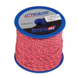 Polyester Braid Line Mini-Spool, 2mm, Pink/Black Line, 98'