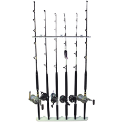 6-Rod Polyethylene Wall-Mount Rod Rack