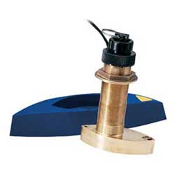 Bronze Thru-hull Mount Transducer with Depth, Speed & Temperature