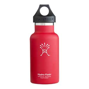 Standard Mouth Vacuum Insulated Stainless Steel Water Bottle, Red, 12oz.