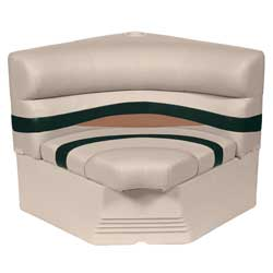 "32"" Radius Corner Section Premium Bench Seat, Jade/Fawn"