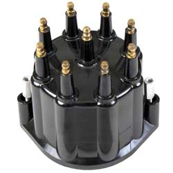 Black Distributor Cap w/ Male Terminals