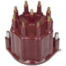 Red Distributor Cap with Male Terminals