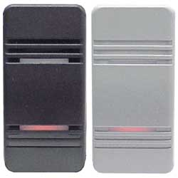 Illuminated Weather Resistant Contura III Rocker Switch (1 Black, 1 Gray)
